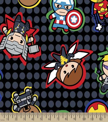 Marvel's Kawaii Print Fabric-Characters