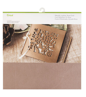 "Cricut Soft Metallic Leather 12x12""-Rose Gold"