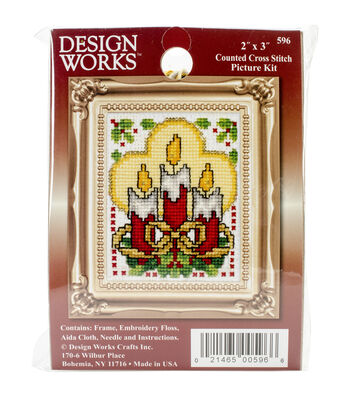 Design Works Candles Ornament Counted Cross Stitch Kit