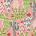 PKL Studio Outdoor Fabric 9\u0022x9\u0022 Swatch-Cute Cactus Hibiscus