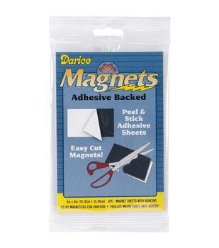 "Adhesive Magnetic Sheet-4""X6"" 3/Pkg"