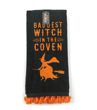 Maker's Halloween Decor Towel with Trim-Baddest Witch in the Coven