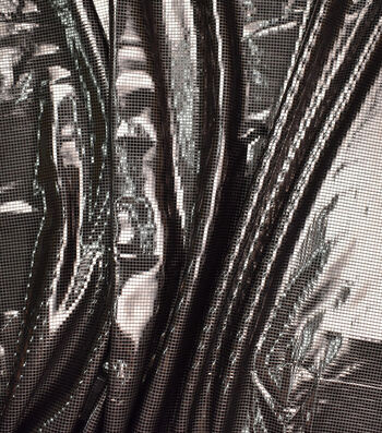 Metallics Bodre Fabric -Black