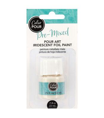 American Crafts Color Pour Pre-Mixed 0.75 fl. oz. Foil Paint-Iridescent