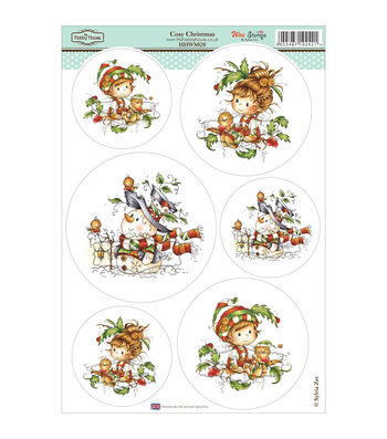 Hobby House Wee Stamps Topper Sheet-Cozy Christmas