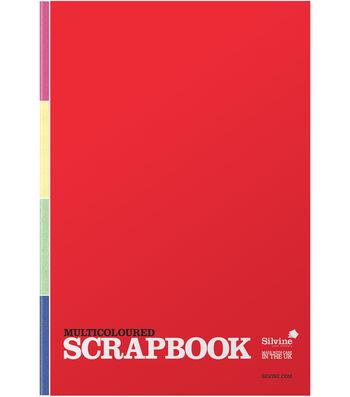 Silvine 80-sheet 13.19''x9.05'' Scrapbook-Multicolored