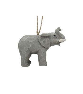 Maker's Holiday Christmas Wood Elephant Ornament