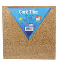 Flipside Cork Tiles, 12\u0022 x 12\u0022, 4 Per Pack, 2 Packs