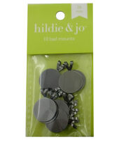 hildie & jo 10 Pack 16mm Bail Mounts-Brushed Nickel, , hi-res