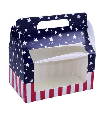 Land of the Free Baking Large Treat Boxes with Window-Stars & Stripes