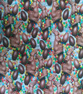 Easter Cotton Fabric -Photo Real Chocolate Bunny