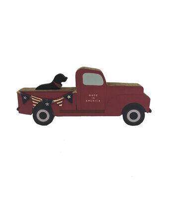 Camp Ann Truck Word Block-Red