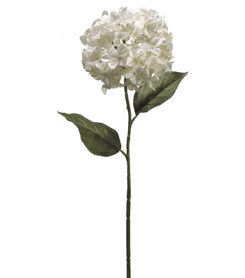 "Bloom Room 31"" Hydrangea Stem-Pearl"