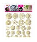 Decorprint Peelable Decals 7.75\u0022X7.75\u0022-Golden Ornaments