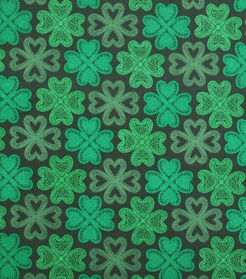 St. Patrick's Day Fabric 43''-Celtic Shamrocks