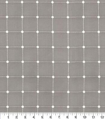 "Waverly Upholstery Fabric 13x13"" Swatch-Geo Metrics Driftwood"