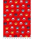 Snuggle Flannel Fabric 42\u0027\u0027-Patterened Paws