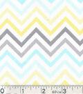Nursery Cotton Fabric-Dream Big Chevron