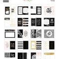 The Happy Planner Tiny Sticker Pad-Black  White