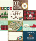Cabin Fever Double-Sided Elements Cardstock 12\u0022X12\u0022-Journaling Cards
