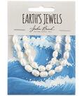 John Bead Earth\u0027s Jewels Freshwater Pearls Rice Shape-White 6mm