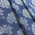 Denim Floral Jaquard Cotton Fabric-Medium Wash