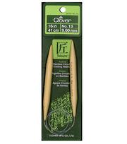 "Clover Bamboo 16"" Circular Knitting Needle-Size 13, , hi-res"