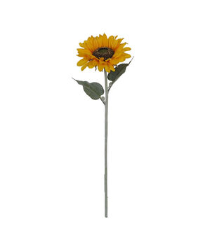 Blooming Autumn Large Sunflower Stem-Yellow