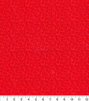 Keepsake Calico Cotton Fabric-Red Groovy Hearts