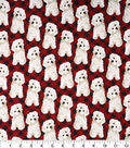 Novelty Cotton Fabric 43\u0022-Dog On Red Plaid