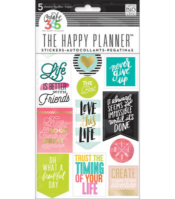 Create 365 Planner Stickers 5 Sheets/Pkg-Life Quotes