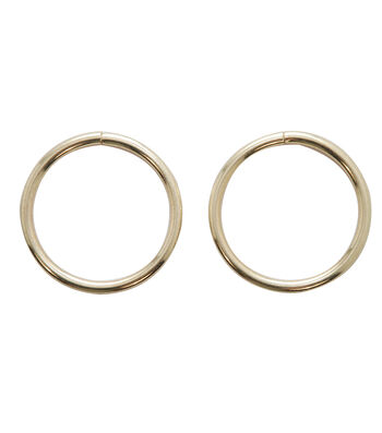 Large 2pc Round Rings-Gold