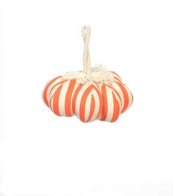 Maker's Halloween Small Pumpkin-Orange Stripes