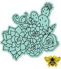 Sizzix Framelits Jen Long Die & Stamp Set-Floral Embellishments