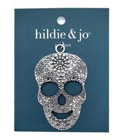 hildie & jo Halloween Metal Skull Pendant, , hi-res