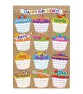 Smart Poly Chart 13\u0022x19\u0022 Burlap Stitched Happy Birthday 10pk