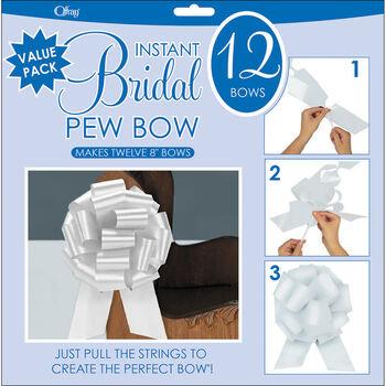 """Perfect Bow 8"""" 12/Pkg- White"""