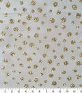 Casa Embellish Spring Glitter Dot Mesh Fabric -Gold
