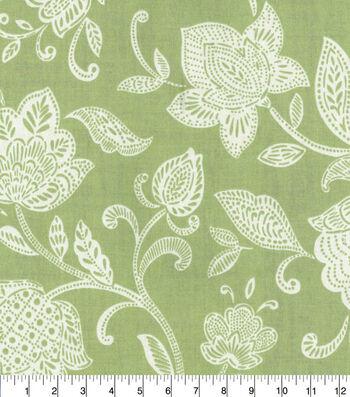 Waverly Upholstery Fabric 54''-Stencil Vine on Celery