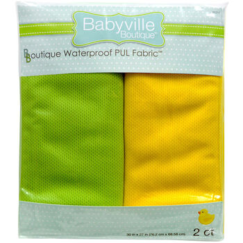 "Babyville Boutique 30"" x 27"" Wicking Fabric Green Yellow"