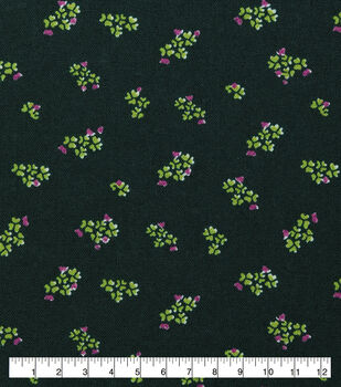 St. Patrick's Day Cotton Fabric-Tiny Bunches of Clover