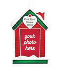 Maker\u0027s Holiday Christmas Picture Frame Ornament-Our First Home 2018