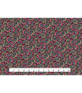 Quilter\u0027s Showcase Fabric -Raspberry & Green Floral Vines
