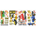 York Wallcoverings Wall Decals-Construction Trucks