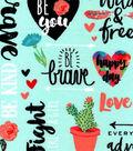 Valentine\u0027s Day Snuggle Flannel Fabric-Happy Words