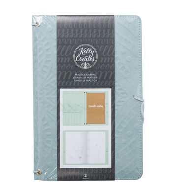 Kelly Creates Suede Cover Practice Journal with 20 Page Inserts-Teal