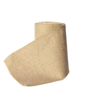 Panacea Burlap Roll with Sticky Back