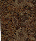 Suede Fabric 58\u0022-Black Paisley and Floral