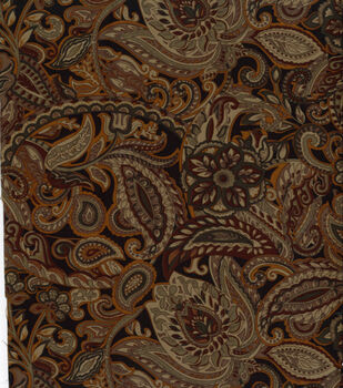 cf0e41caf500 Suede Fabric -Black Paisley and Floral