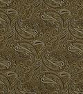 Home Decor 8\u0022x8\u0022 Fabric Swatch-Print Fabric Robert Allen Patna Paisley Fawn